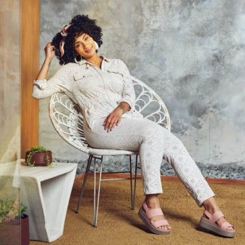 Pastel Pink Brooklyn Sandal.