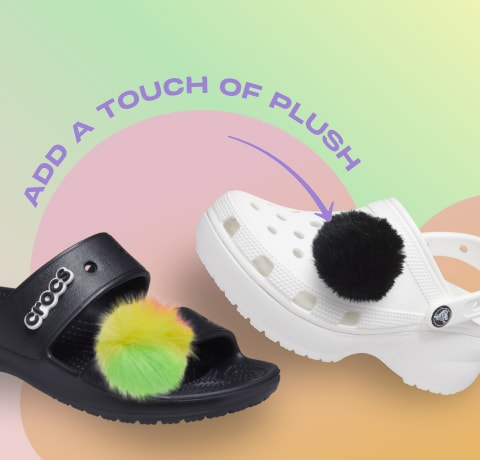 Add a touch of plush with Puff Ball Jibbitz™