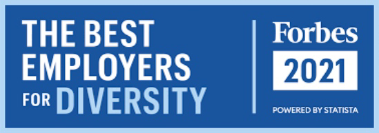 Forbes 2021. The Best Employers for Diversity.