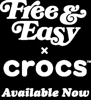 Free & Easy x Crocs Available Now - Logo White