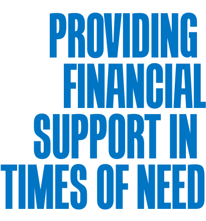 providing financial support in times of need.
