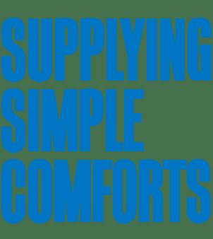 supplying simple comforts.
