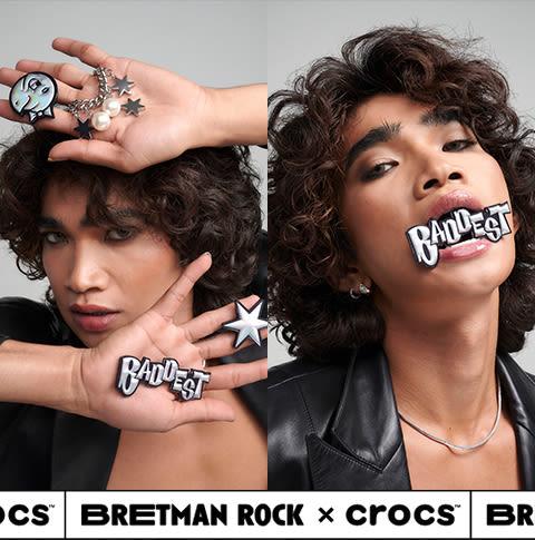 Bretman posing with Bretman Rock Jibbitz