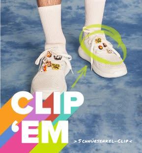 'Clip 'Em' - White LiteRide Pacer with Jibbitz