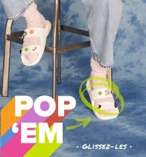 'Pop 'Em' - Classic White Sandals with Jibbitz